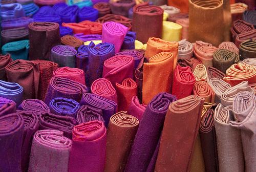 el color en los textiles