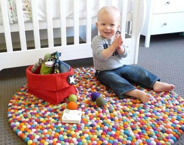 Crea tu propia alfombra para ni os textiles pastor - Alfombras para jugar ninos ...