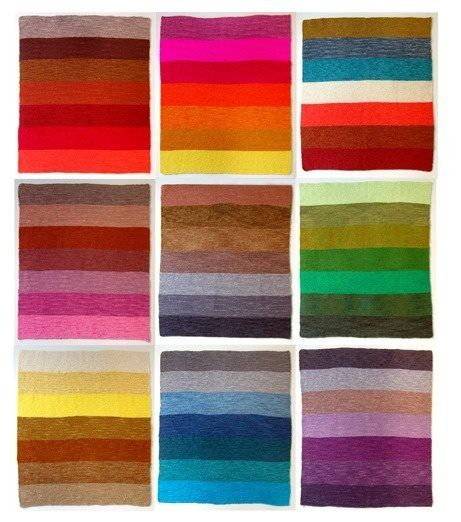 Combinación colores tejidos